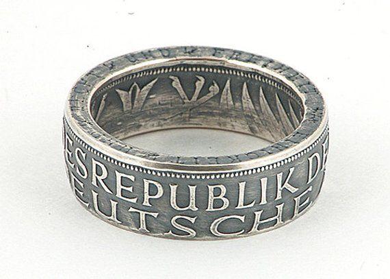Silber 5 Deutsche Mark Münzring (Silver 5 German Mark Coin