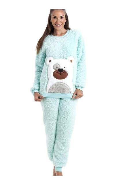 6c556435ce91 Camille Womens Nightwear Green Soft Fluffy Thick Winter Warm Bear Pajama  Set