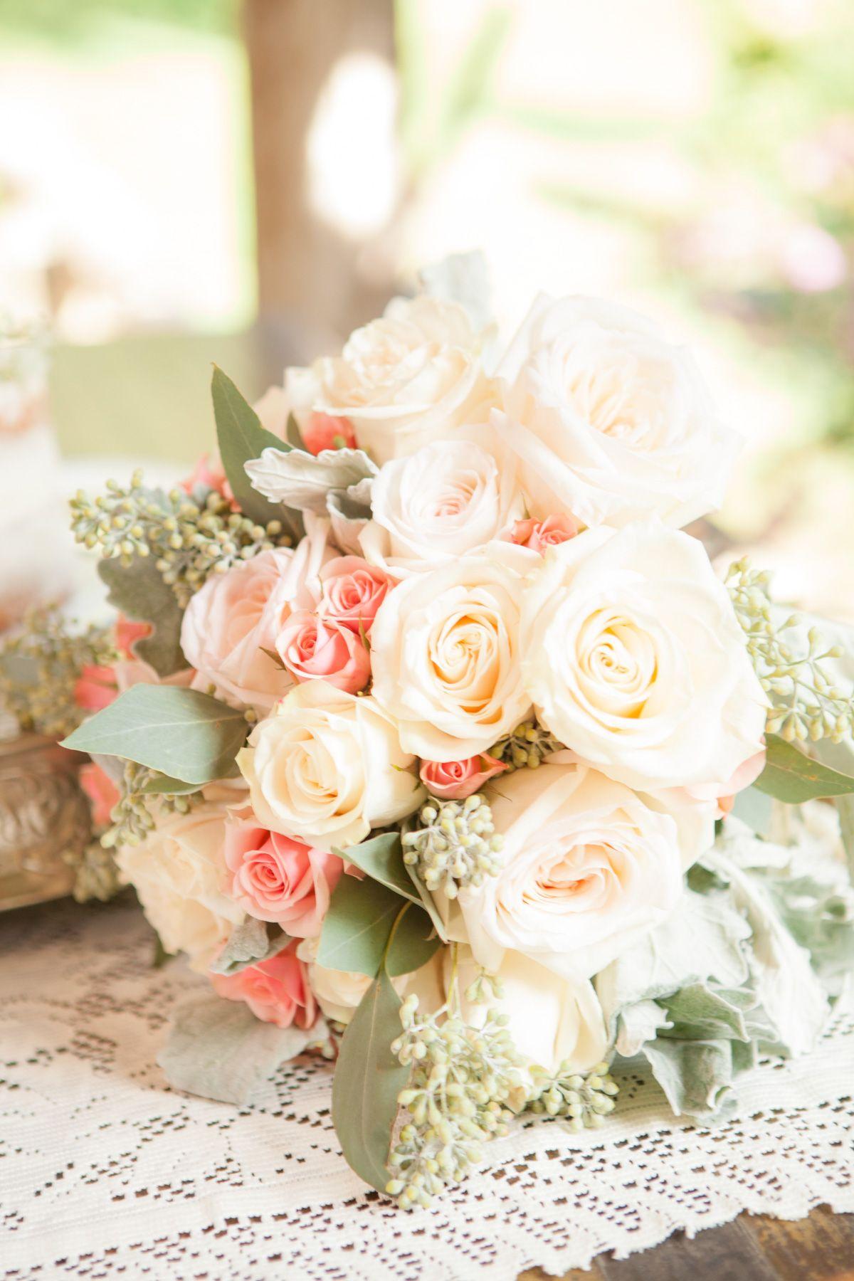 Beautiful Wedding Bouquet Wild Root Florist Bride Bouquet Peach
