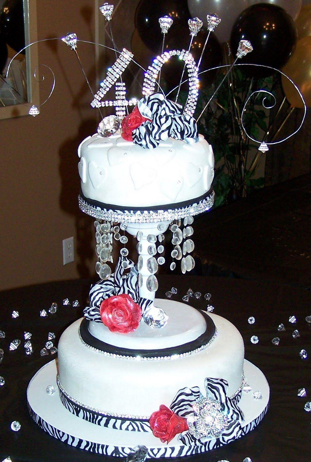 Bling Birthday Cake Designs Pin 40th Birthday Cake Ideas