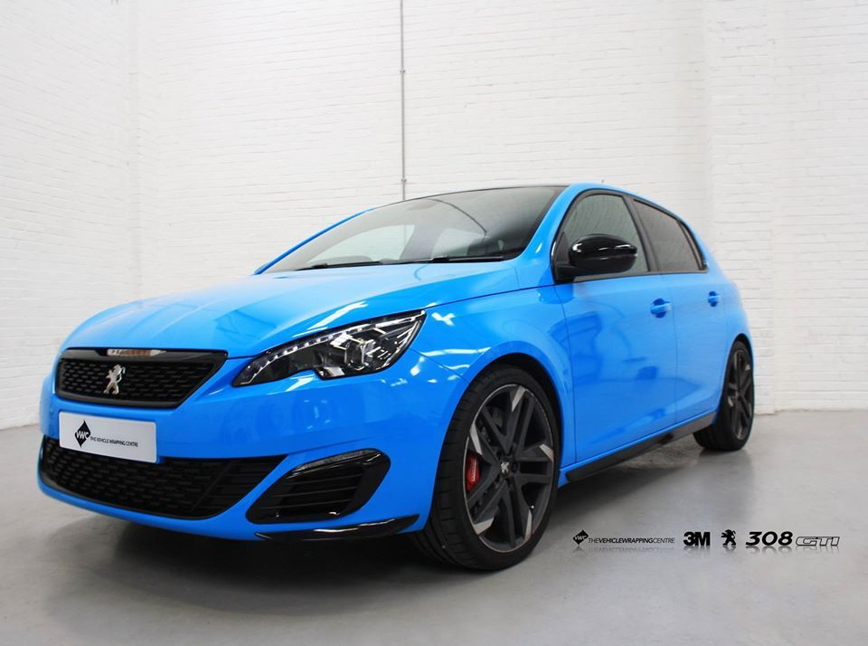 Peugeot 308 Gti Avery Light Blue Personal Vehicle Wrap Project