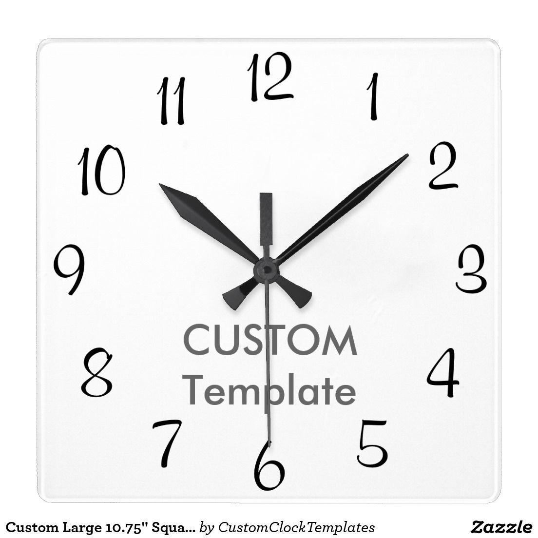 Custom Large  Square Wall Clock Murray H B  Custom Clock