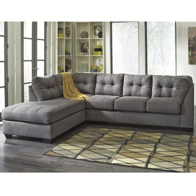 Cornett Sectional Sectional Sofa With Chaise Microfiber