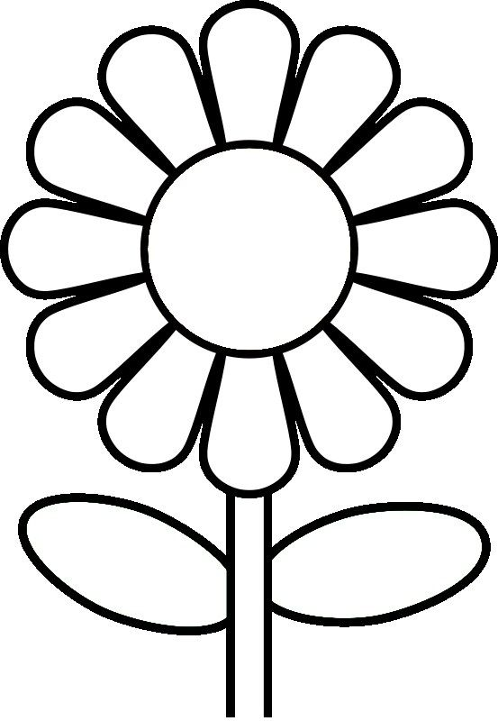 Free Printable Preschool Coloring Pages   Sunflower ...   flower coloring pages preschool