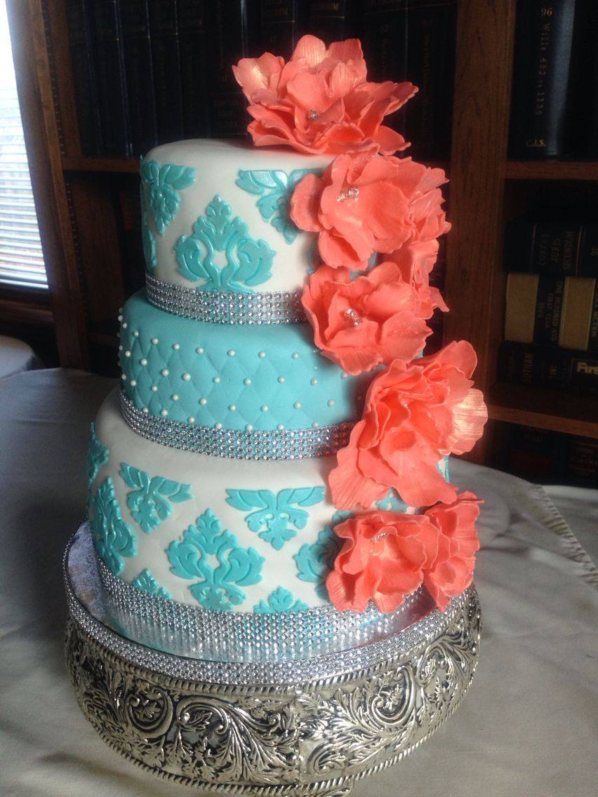 Dazzling Breakfast At Tiffany Inspired Wedding Cake By Goody Goos In Dothan Alabama