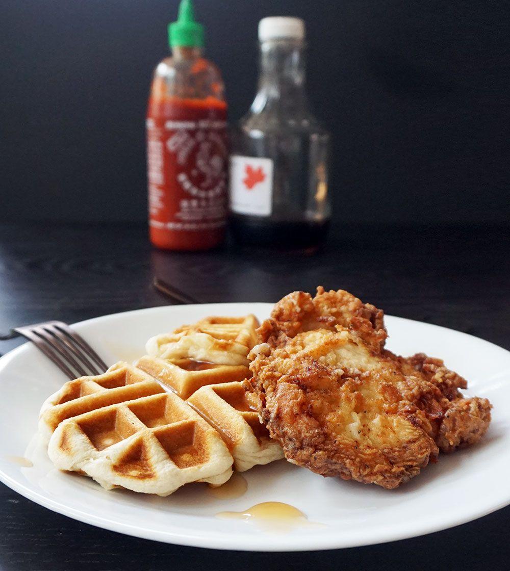 Easy Buttermilk Fried Chicken And Waffles Recipe Fried Chicken And Waffles Chicken And Waffles Fried Chicken