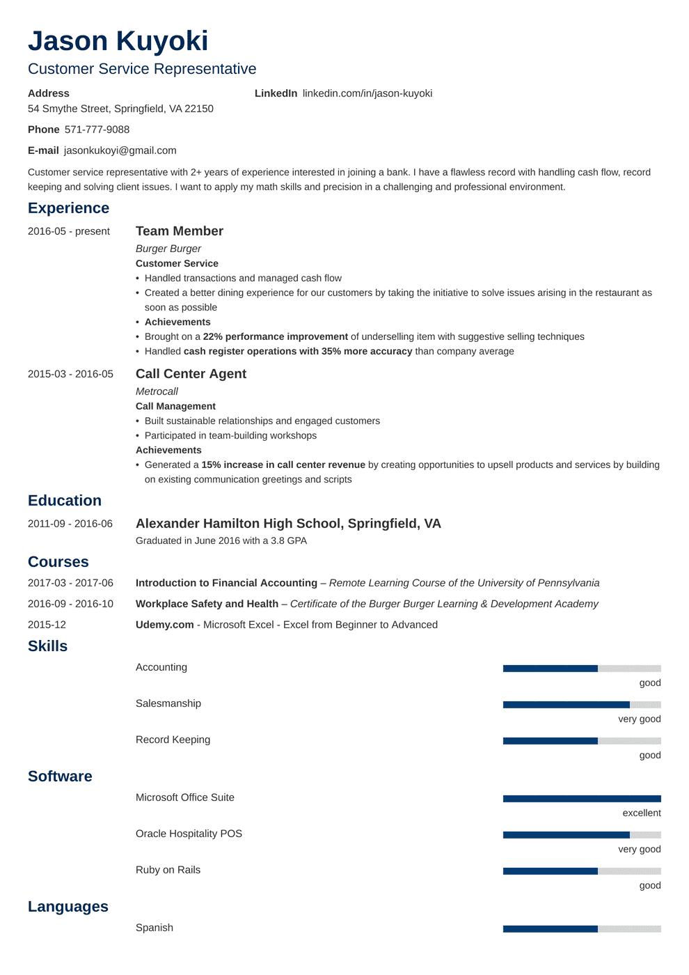 Bank Teller Resume in 2020 Resume examples, Bank teller