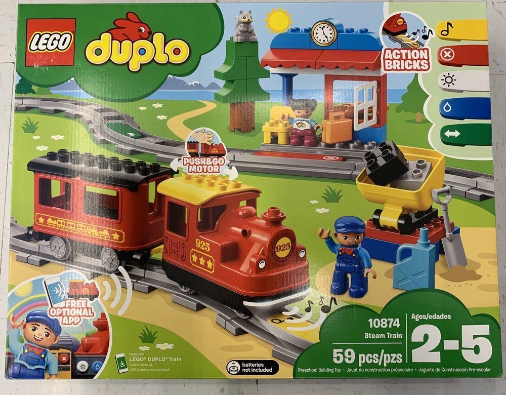 LEGO DUPLO Steam Train 10874 Remote-Control Building Blocks Set NEW