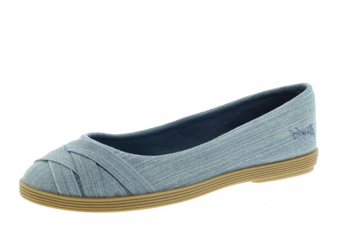 7805289aeab Blowfish Glo 2 Chambray Blue Street Denim Flat Ballet Shoes