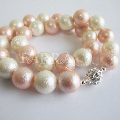 Bride gift candy color shell pearls necklace buy 4 by FARRAwedding,   FARRAwedding.etsy.com