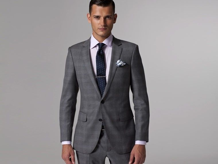 Vincero Light Gray Plaid Suit | Groomsmen, The o'jays and Of