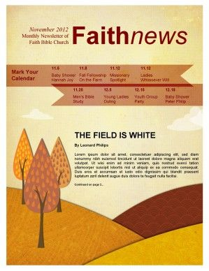 fall forest newsletter template church pinterest newsletter