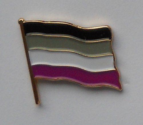 Asexual Pride Flag Enamel Pin Badge MadAboutFlags http://www.amazon.co.uk/dp/B00P59FMY0/ref=cm_sw_r_pi_dp_A0ZKwb0EWRARM