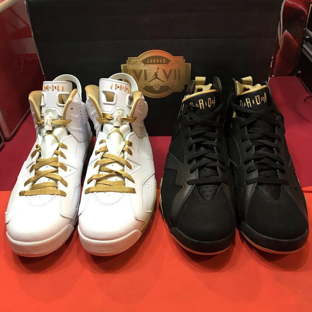 f6d70acf2cab99 eBay  Sponsored Nike Air Jordan Retro VII VI Size 13 DMP Pack GMP CDP  Olympic Gold XI 6 2 Pairs