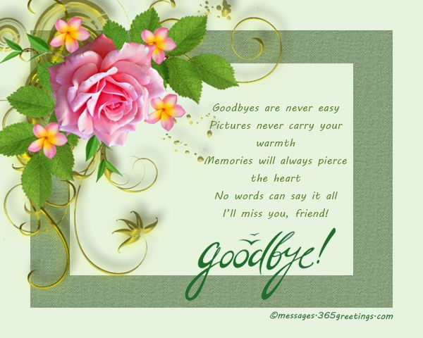 Farewell Messages, Wishes And Sayings