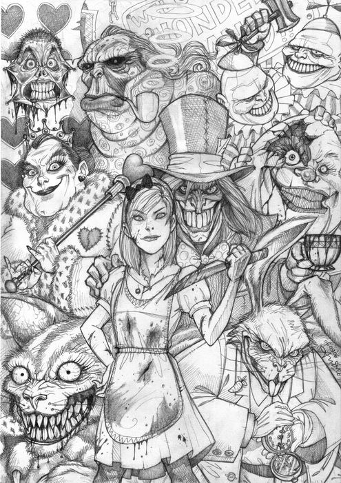 Alice Wonderland Concept Art Burton Google Search Alice In Wonderland Drawings Steampunk Coloring Wonderland Tattoo
