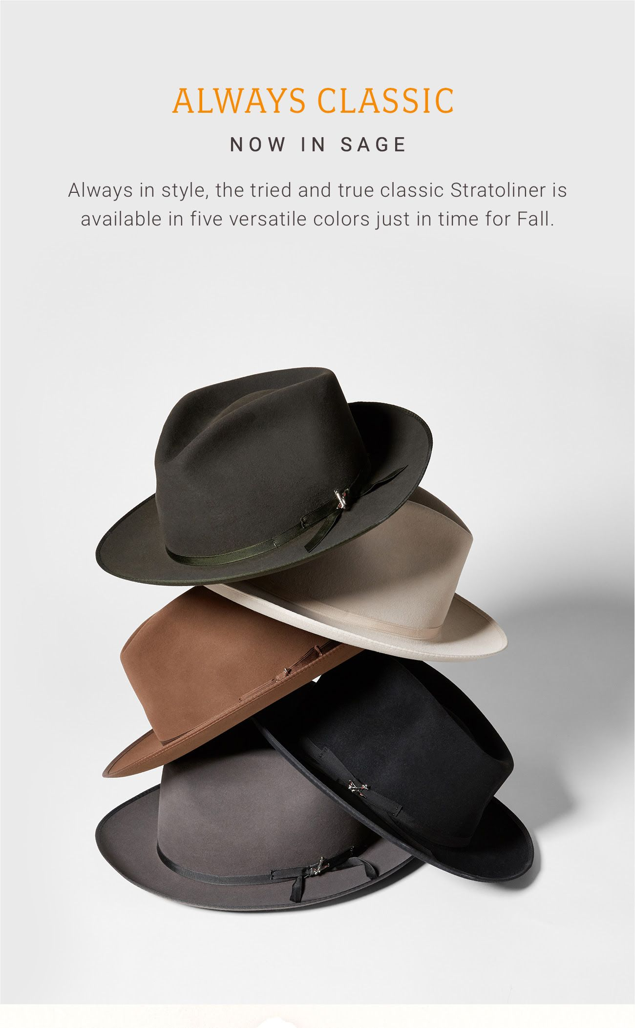 a8c59741 Stetson Stratoliner now available in Sage | Fedora Friday | Hats ...