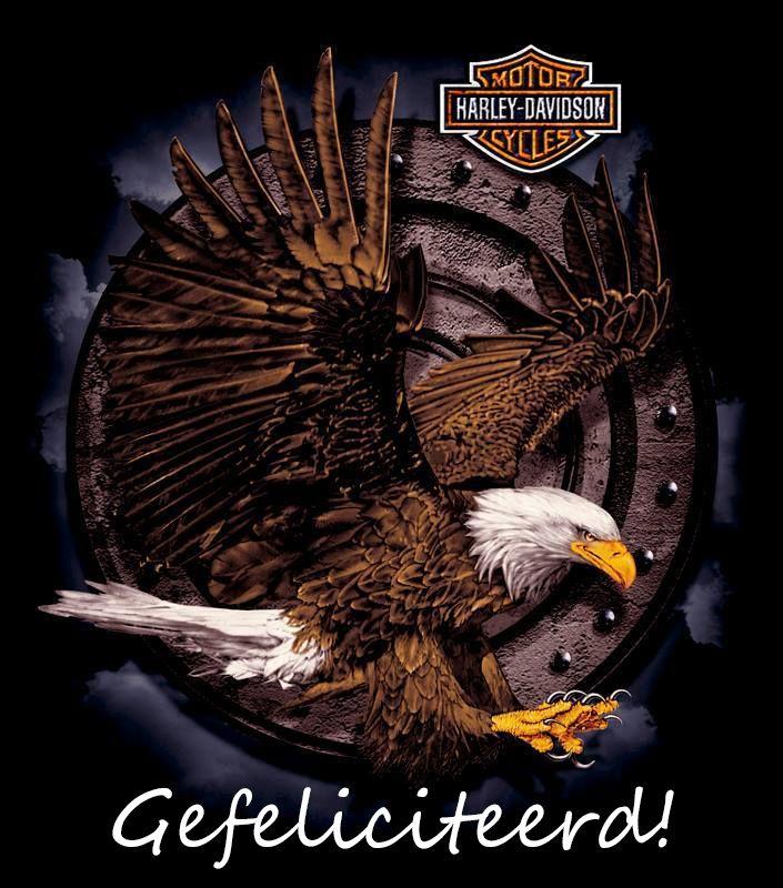 Gefeliciteerd Harley Davidson Eagle