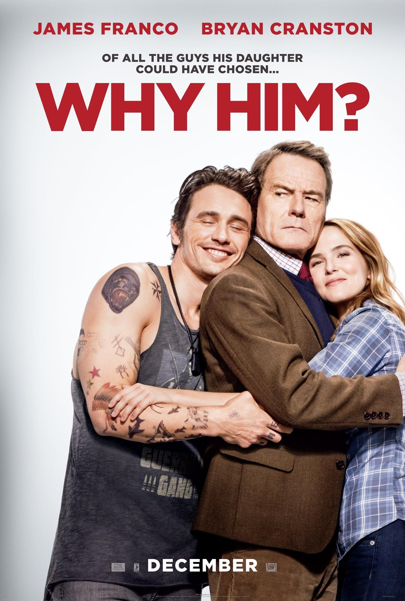 Why Him Hits Theaters On Christmas Day 2016 James Franco Bryan Cranston Film Bollywood