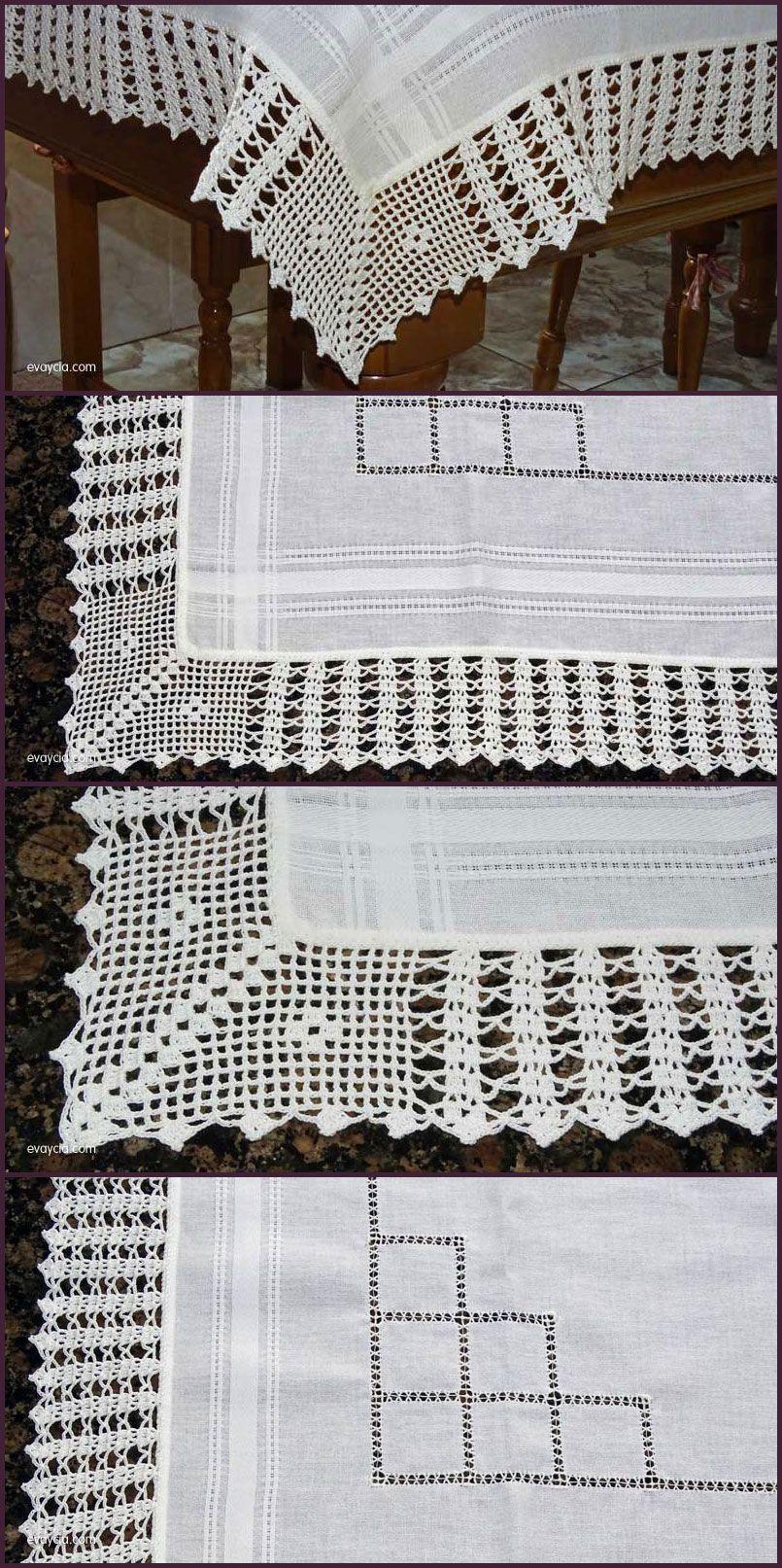 Puntillas y Bordados   Crochet   Pinterest   Crochet, Crochet ...