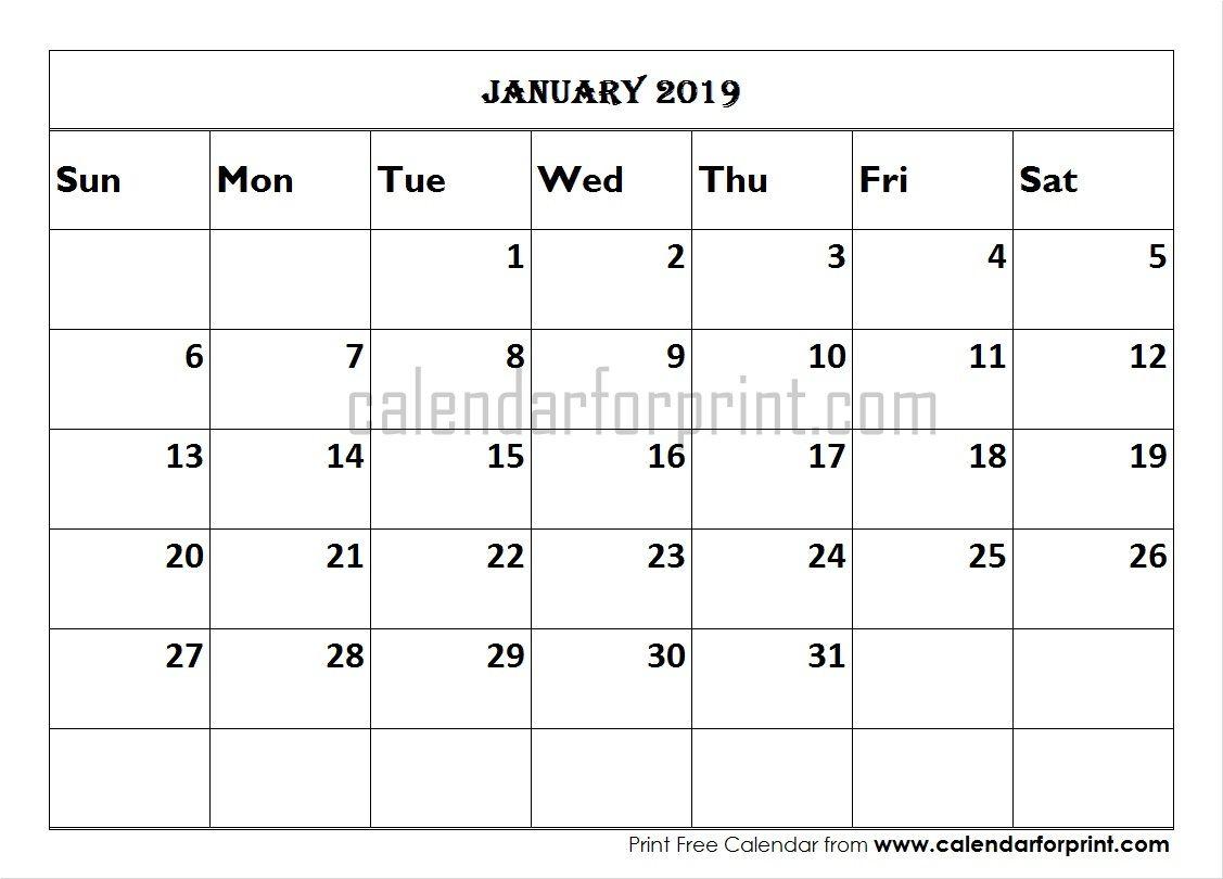 calendar january 2019 south africa
