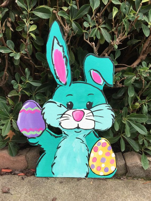 Easter Yard Art Easter Yard Decor Easter Bunny Outdoor Etsy Easter Yard Art Easter Yard Decorations Easter Decorations Outdoor