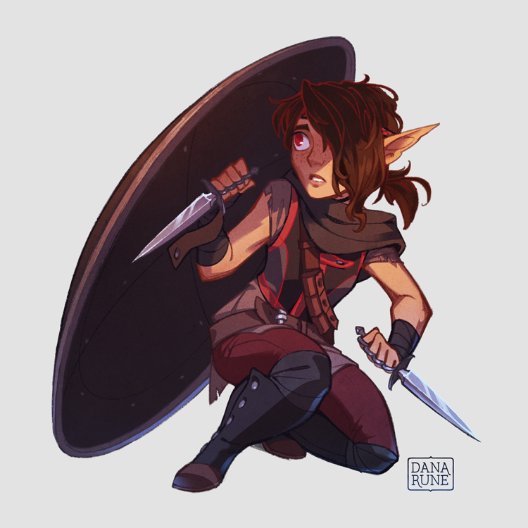 danarune: Commission of a half-elf, half-gnome character ...