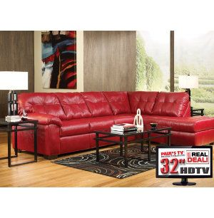 7pc Living Room Package With Tv Leather Furniture Sets