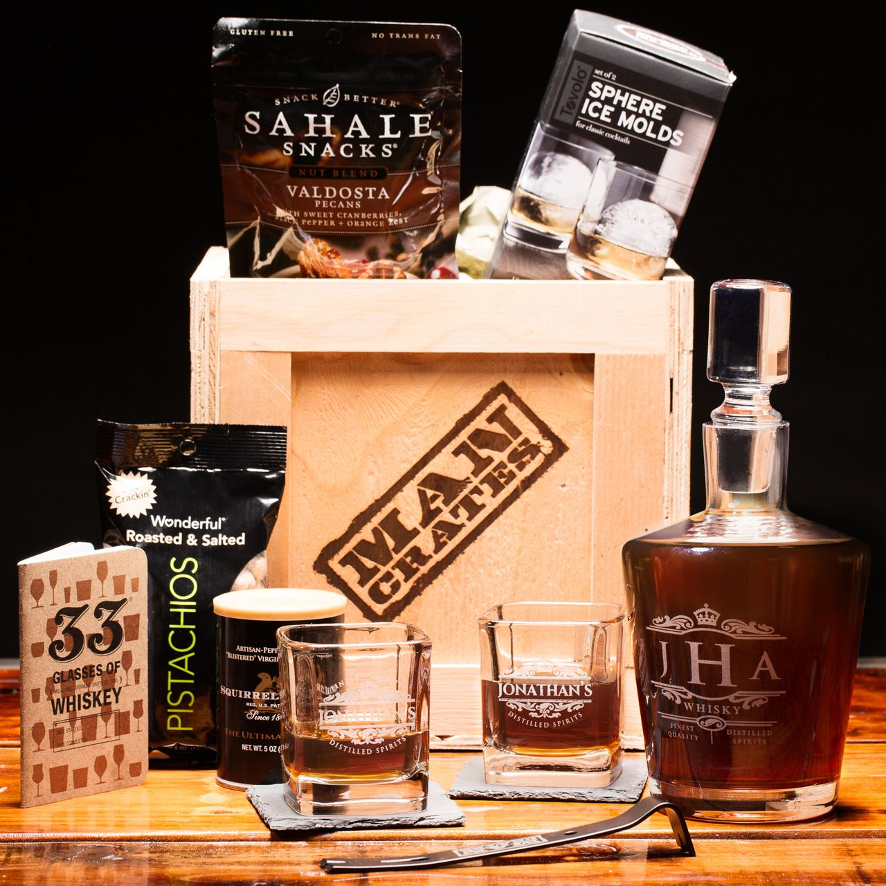 Whiskey Appreciation Crate   Personalized whiskey, Whiskey gifts, Man crates