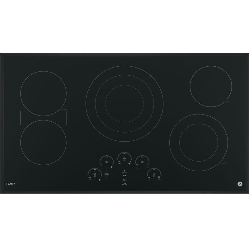 Ge Profile 36 Inch Smoothtop Electric Cooktop Black In 2019