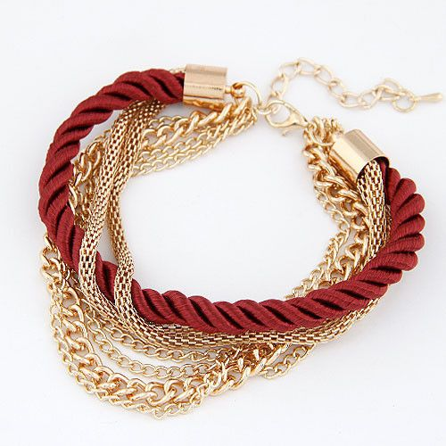 New Fashion Luxury Handmade Braided Woven Rope Multilayer Gold Chain Bracelet Pulseira pulseras Bracelets For Women Gift