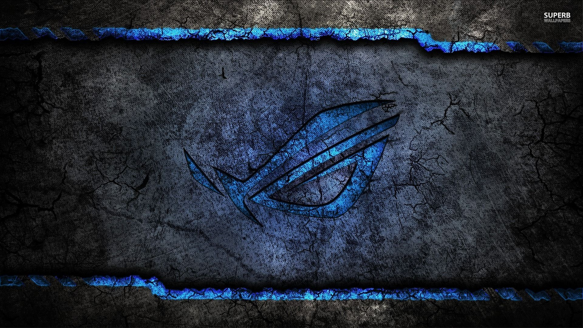 Dark Grey And Blue Asus Rog Wallpaper Id 1231 Download Page Latar Belakang Seni Wallpaper Ponsel