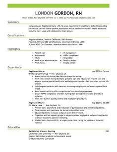 Registered Nurse Resume Sample Best Cv Template Resume Examples Resume Skills