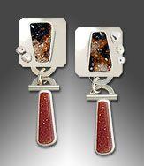 Carnelian drusy earrings