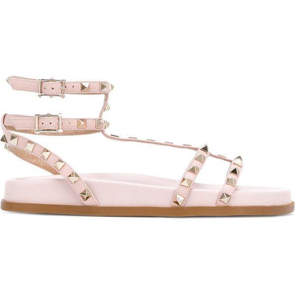 c545857c7929 Valentino Garavani Rockstud gladiator sandals ( 845) ❤ liked on Polyvore  featuring shoes