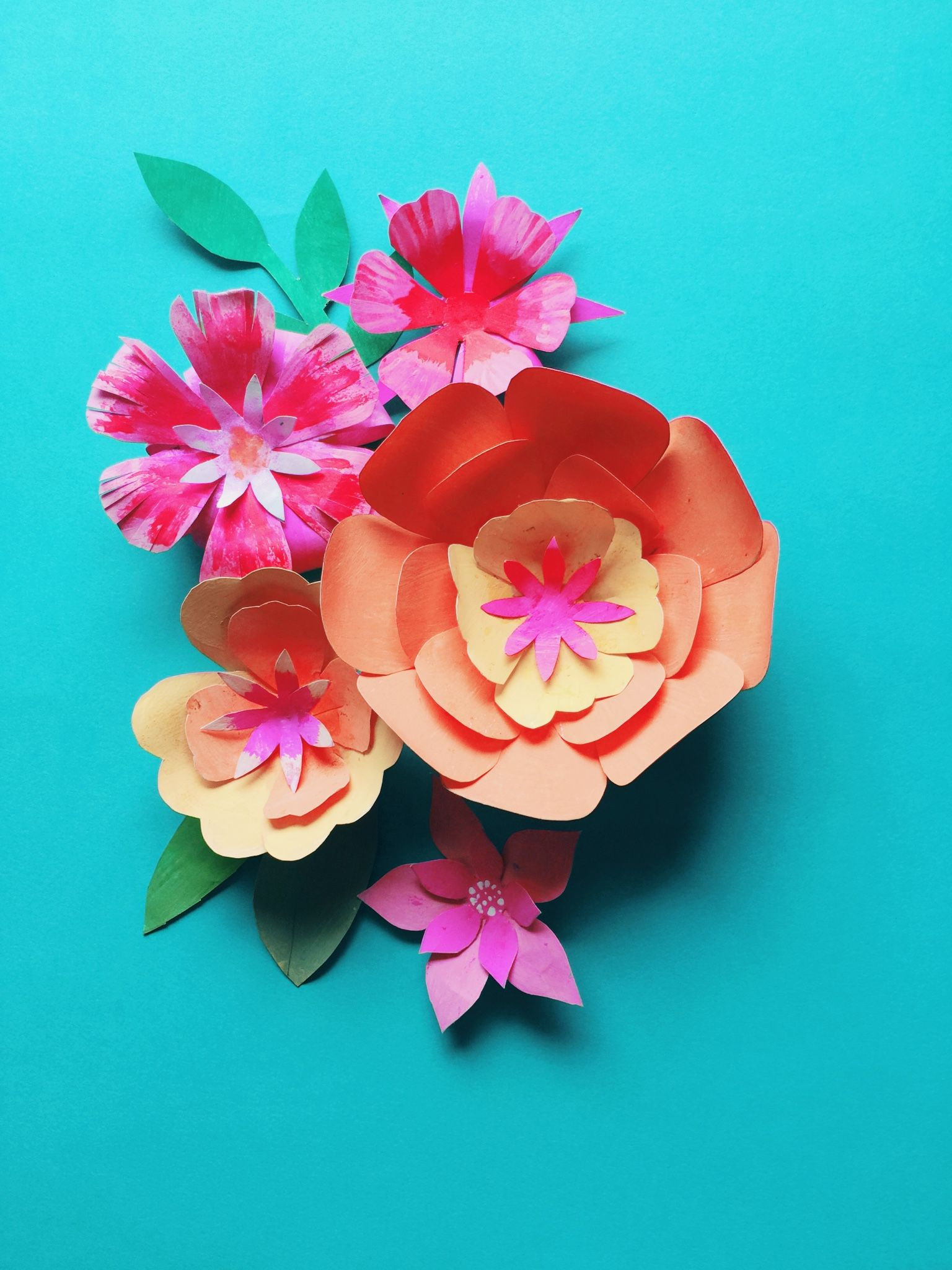 Diy Paper Flower Templates And Tutorial At Happythought Co Uk