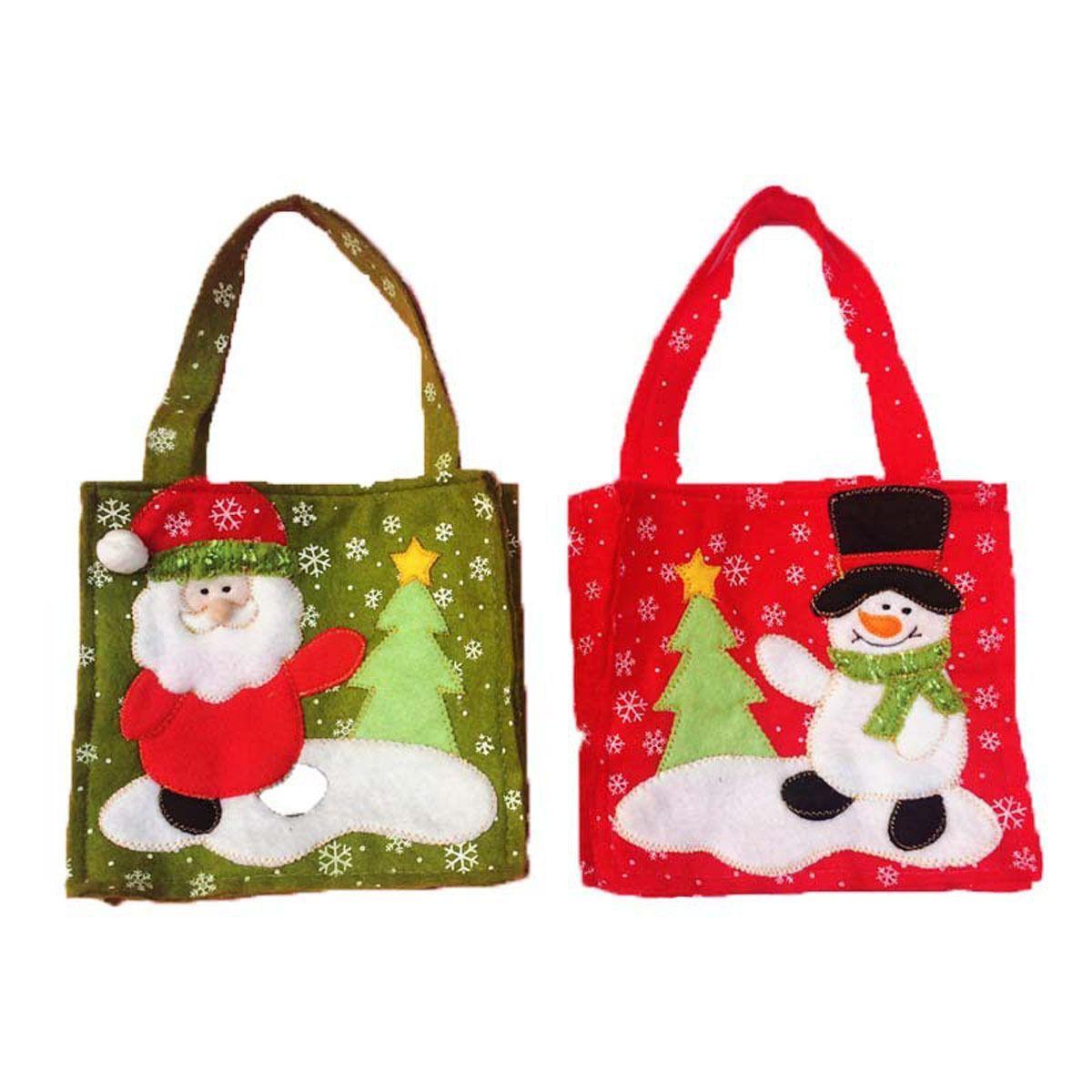 Xmas//Christmas Santa Pants Candy Bag Sack Red Filler Decor Party Snowman Gift