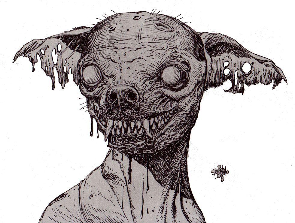 Zombie Princess Coloring Pages : Картинки по запросу zombie dog Животные pinterest zombie art