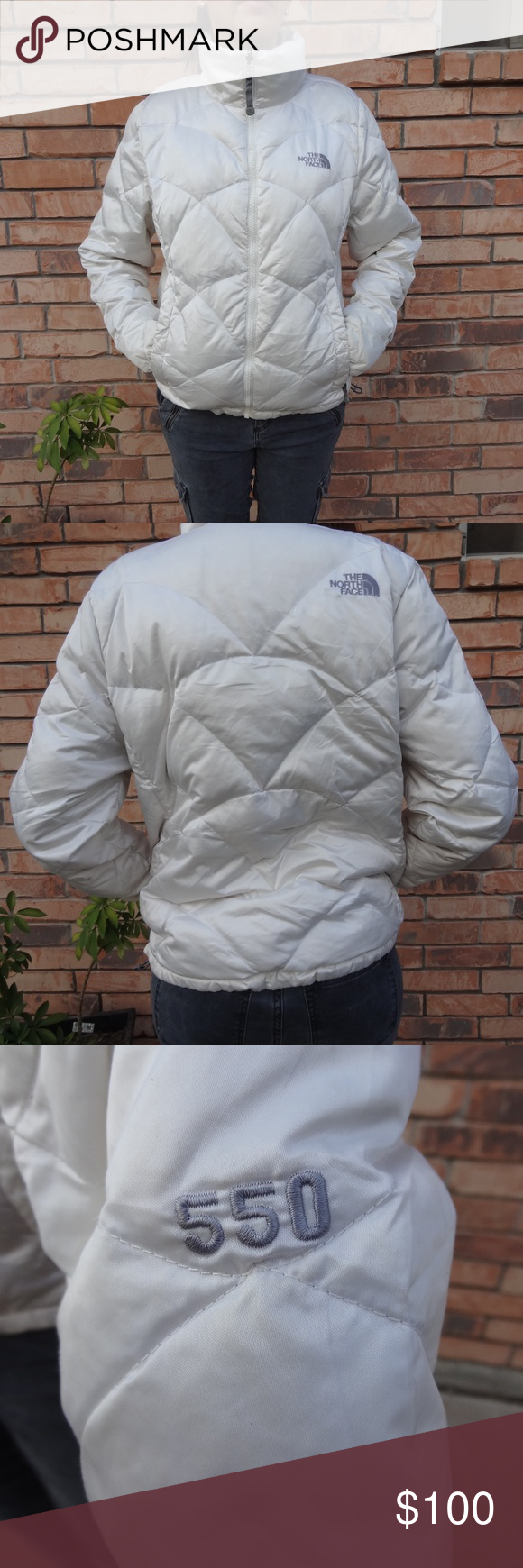 Women S The North Face Pearl White Down Jacket M Clothes Design Fashion Jackets For Women [ 1740 x 580 Pixel ]