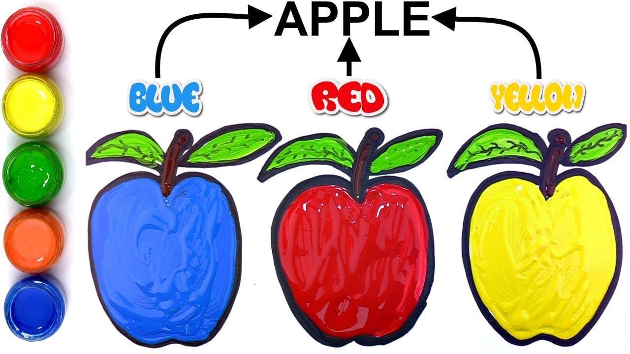 Elma Boyama Sayfalari Ve Cizim Cocuklar Icin Renkleri Ogrenin Apple Coloring Pages Apple Coloring Coloring Pages