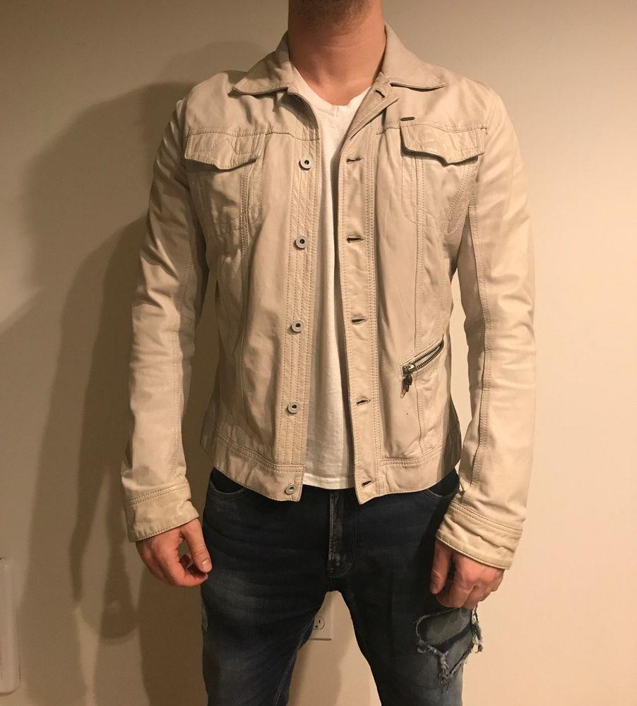 d1694f15db3 DIESEL LUMI CREAM WHITE 100% LEATHER JACKET SIZE XL 100% AUTHENTIC #Diesel  #BikerJackets #Luxury #Leather
