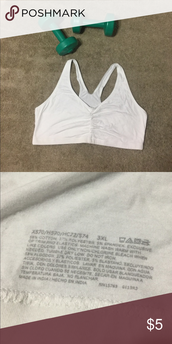 ed98c768f3 White Sports Bra Cute sports bra for extra support or to workout in.  Intimates   Sleepwear Bras