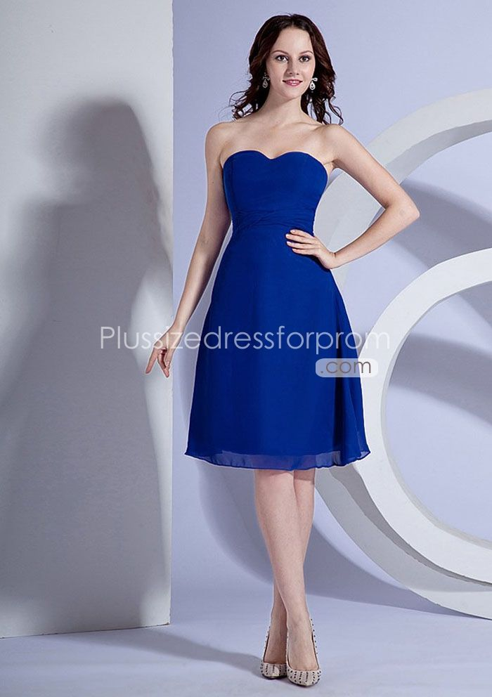 royal blue short bridesmaid dresses | ... Royal Blue Short/ Knee ...