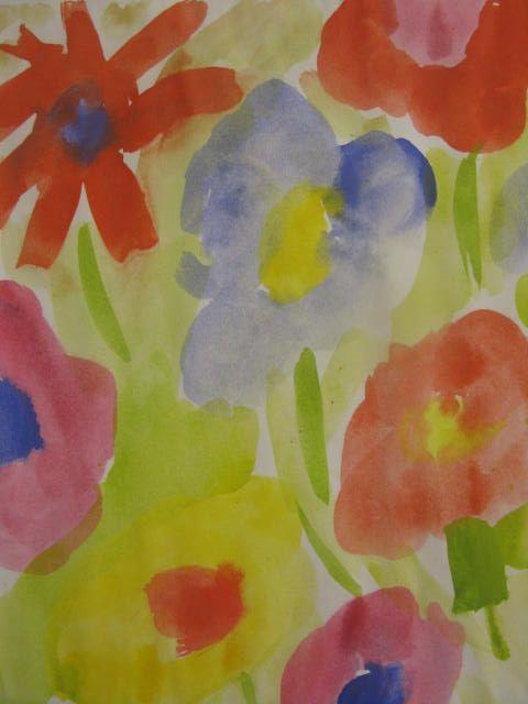 1.luokan kevätkukkia