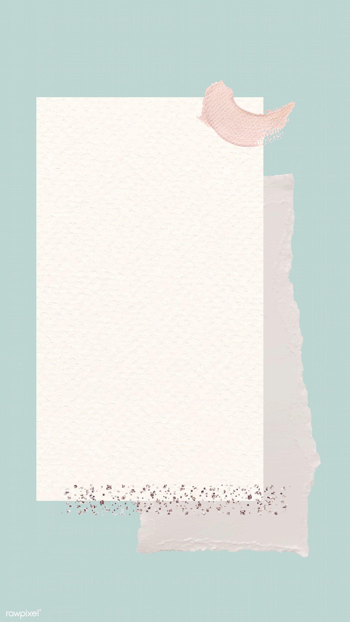 Download Premium Vector Of Blank Beige Notepaper Template Vector 1216050 In 2020 Photo Collage Template Instagram Wallpaper Note Paper