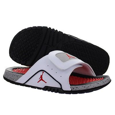 9008ea6f74740f Nike Jordan Hydro IV 4 Retro Mens 532225-104 White Red Grey Slide Sandals  Sz 10