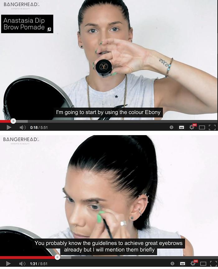 Videotutorial – Bryntutorial med Anastasia dip brow pomade!