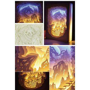ペーパー ジオラマ テーブルランプ 縦 ライト 照明 電灯 寝室 ...