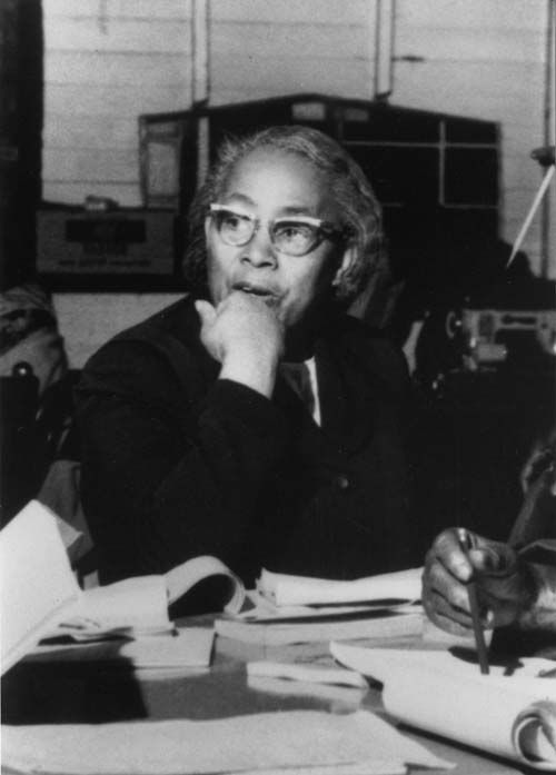 """Septima Poinsette Clark - Known as """"Queen Mother,"""" Clark was an American educator and civil rights activist. She developed the literacy and citizenship workshops that played an important role in the drive for voting rights and civil rights for African Americans in the American Civil Rights Movement"""