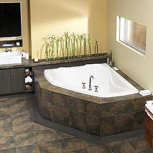 Beautiful Corner Soaking Tub  Corner Tub  Pinterest  Tubs Extraordinary Corner Soaking Tubs For Small Bathrooms Decorating Design